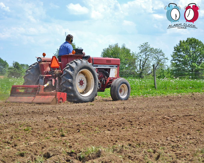 We use a small plow to incorporate composted manure into our soil. This puts back nutrients and helps to break up the compacted soil.