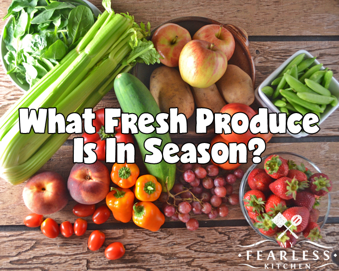 What Fresh Produce is in Season? From My Fearless Kitchen. Shopping for produce when it's in season means you can find the freshest fruits and vegetables, often at a lower cost. Get the list of what's in season!