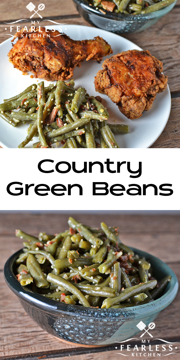Country Green Beans from My Fearless Kitchen. Are you bored with your regular green bean recipe? Give these Country Green Beans a try next time. Your whole family will love them!