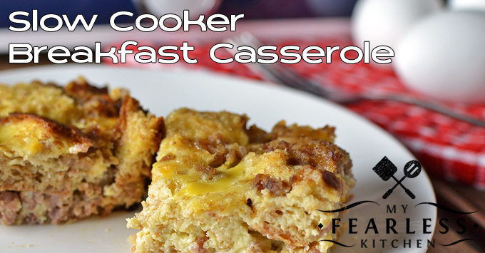 pieces of sausage and egg breakfast casserole