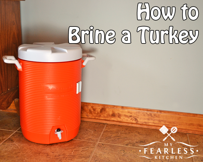 How to Brine a Turkey from My Fearless Kitchen. Have you ever brined a turkey? Brining a turkey keeps it moist and flavorful. Once you brine a turkey, you will never go back to un-brined turkeys again!