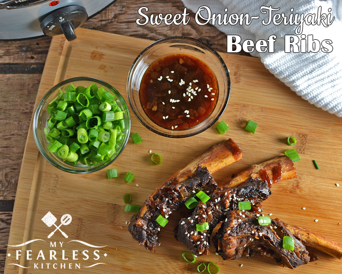 Slow Cooker Sweet Onion-Teriyaki Beef Ribs from My Fearless Kitchen. Put your slow cooker to use with this recipe for Sweet Onion-Teriyaki Beef Ribs. They are fast to prep and slow to cook, and they taste amazing!
