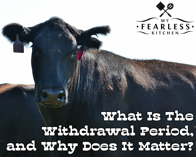 What Is The Withdrawal Period for Antibiotics, and Why Does It Matter? from My Fearless Kitchen. Every medicine that is given to animals, including antibiotics, has a withdrawal period. Farmers must follow these withdrawal times to be sure no antibiotics are in our food.