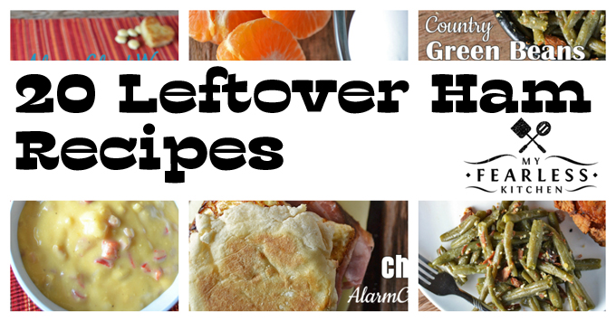 collage of recipes to make with leftover ham