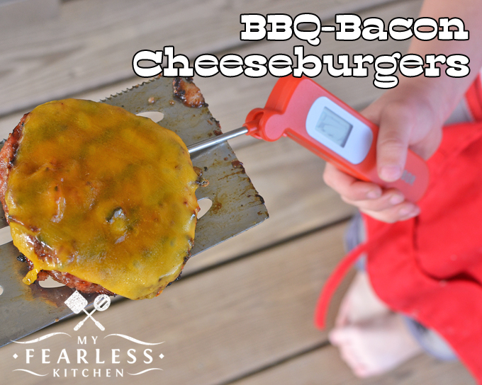 BBQ-Bacon Cheeseburgers from My Fearless Kitchen. Take your burgers to the next level with these BBQ-Bacon Cheeseburgers. They are easy, delicious, and taste like they came from your favorite burger joint!