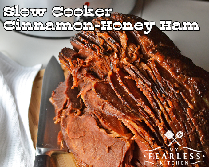 slow-cooked spiral-sliced ham with cinnamon and honey glaze