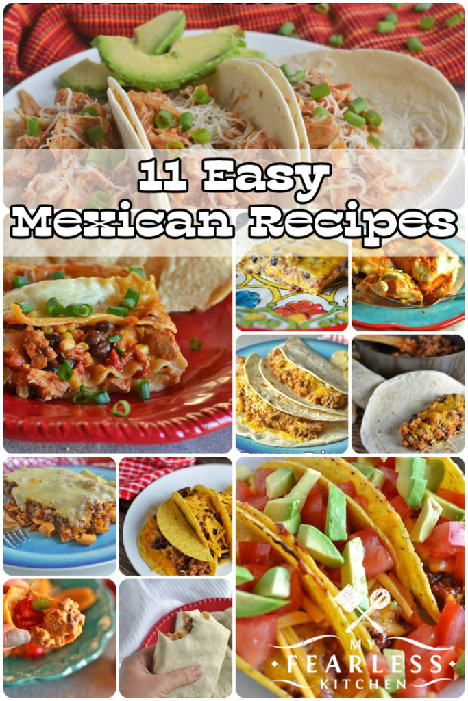 collage mexican recipes