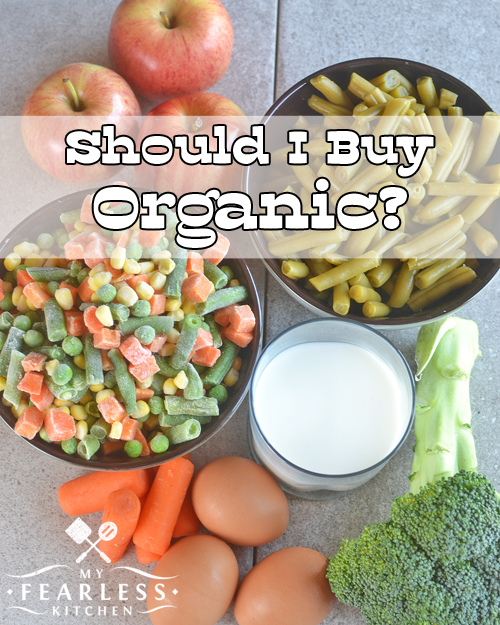 Should I Buy Organic? from My Fearless Kitchen. Do you sometimes feel guilty about your grocery store choices? Look at organic and conventional foods side by side, and compare for yourself!