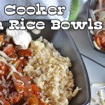 Slow Cooker Fajita Rice Bowls
