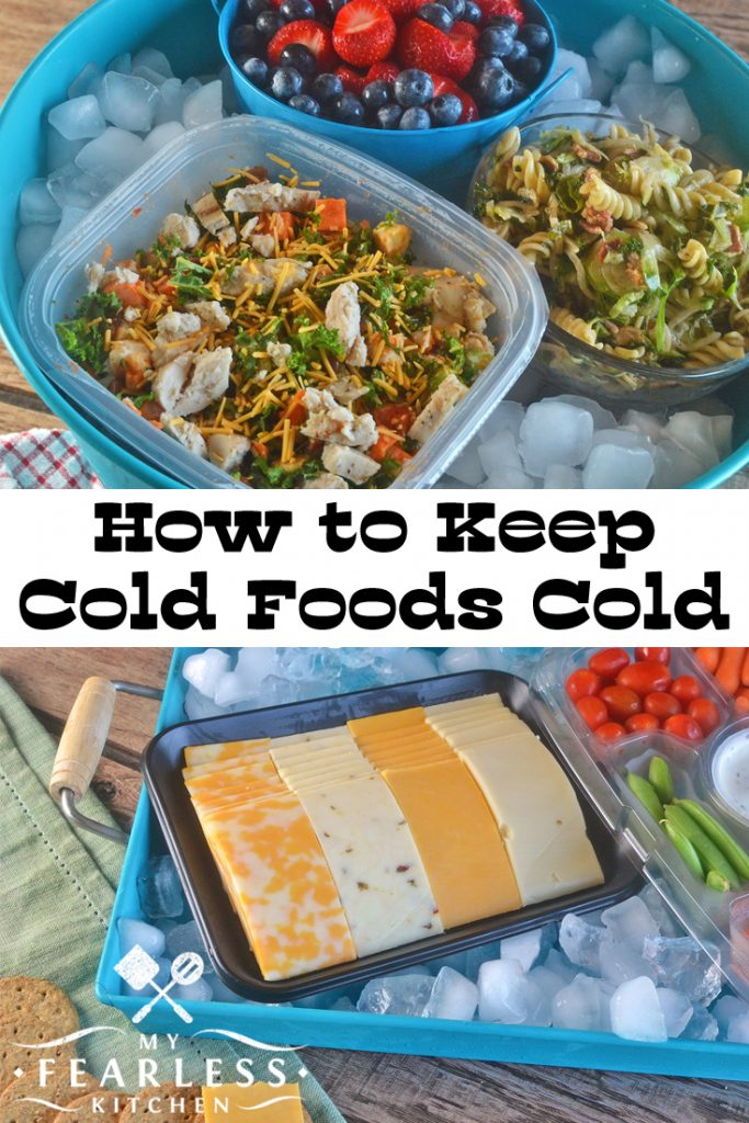 Keep Cold Foods Cold at Your Summer Potluck from My Fearless Kitchen. Do you have a summer party or a potluck coming up? You'll want these easy tips to keep your cold foods cold, even in the summer heat.