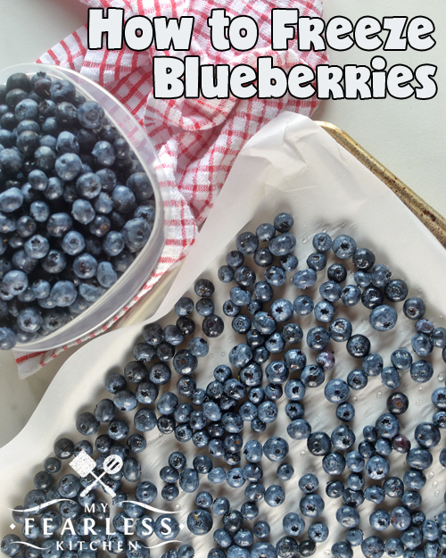 How to Freeze Blueberries from My Fearless Kitchen. Fresh, in-season blueberries are so delicious! Did you know that you can stock up on blueberries when they are less expensive in season, and freeze them for later?
