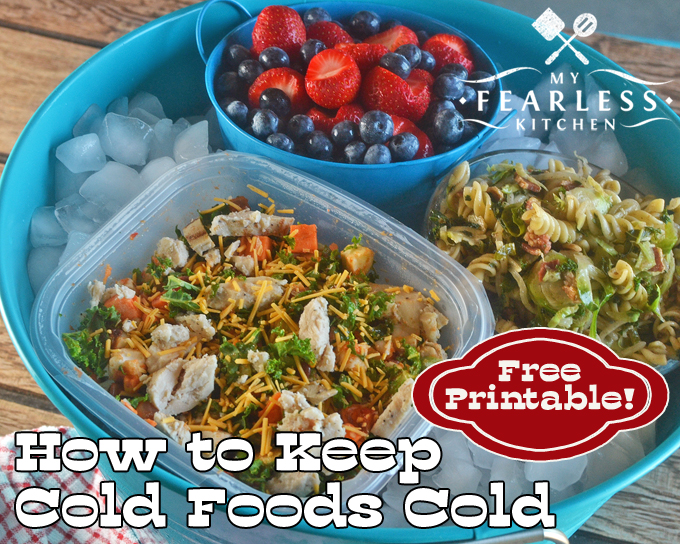 Keep Cold Foods Cold at Your Summer Potluck - My Fearless