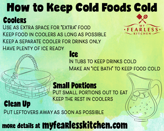 printable tips for how to keep cold foods cold
