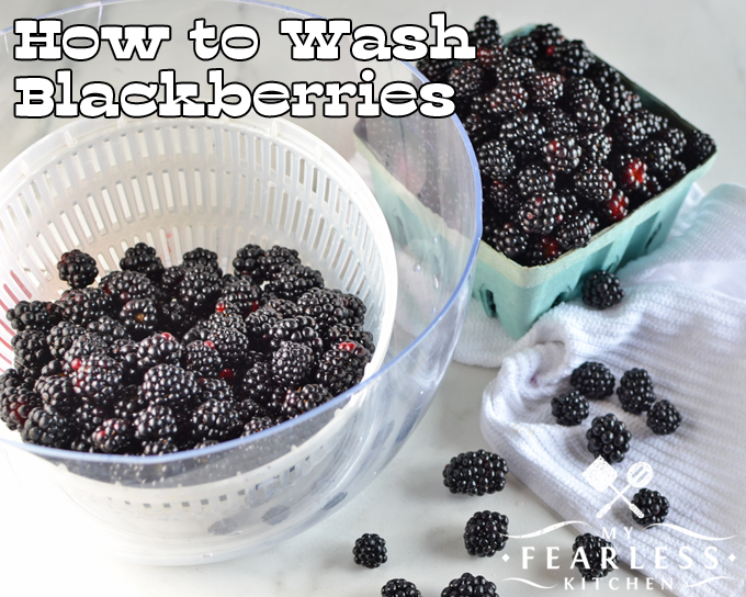 How to Wash Blackberries from My Fearless Kitchen. Of course, you know that you should wash blackberries before you eat them. But what's the best way? Get my best tips, and get some delicious recipes, too!