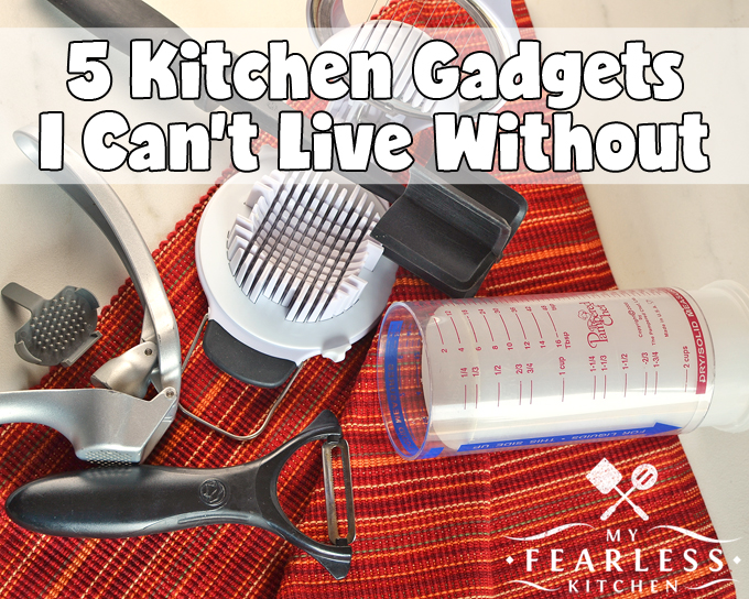 5 Kitchen Gadgets I Can't Live Without from My Fearless Kitchen. Every chef has her own tricks and hacks. These are the top 5 kitchen gadgets I can't live without. They make cooking so much easier and way more fun!
