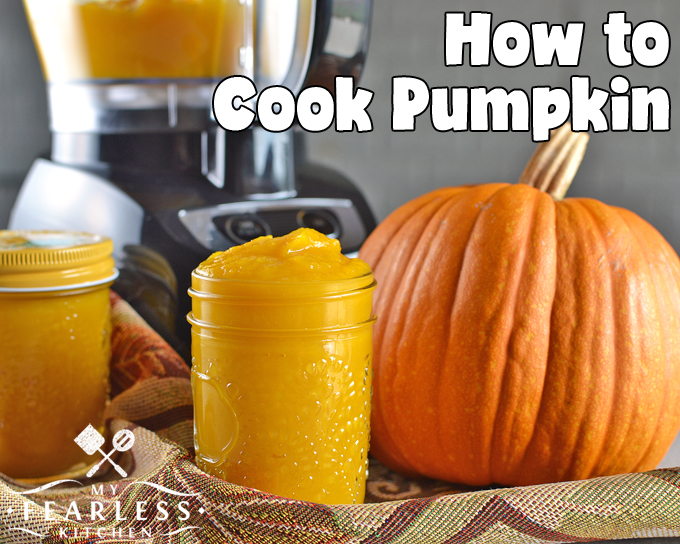 How to Cook Pumpkin from My Fearless Kitchen. Have you ever cooked a pumpkin? Get these easy tips on how to cook pumpkin and make your own pumpkin puree. You'll never go back to canned pumpkin again!