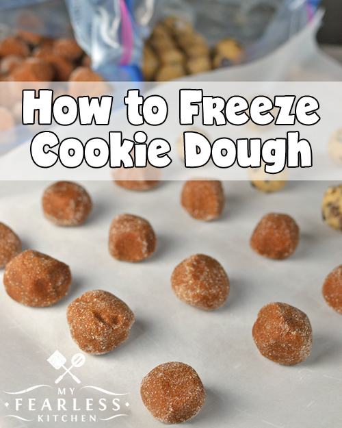 How to Freeze Cookie Dough from My Fearless Kitchen. Do you love baking cookies, but want to bake a smaller batch? Use these tips to freeze cookie dough - bake a few cookies now and save the rest to bake later!