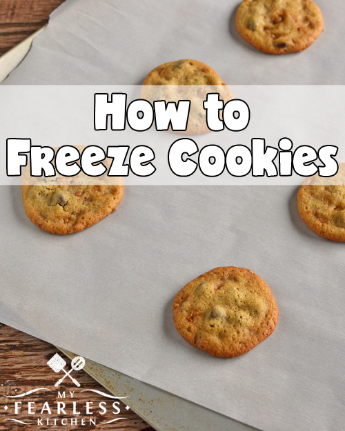 How to Freeze Cookies from My Fearless Kitchen. Do you have too many cookies left over? Don't eat them - freeze them! Get the best tips to freeze cookies to make them last longer, and have a treat later!