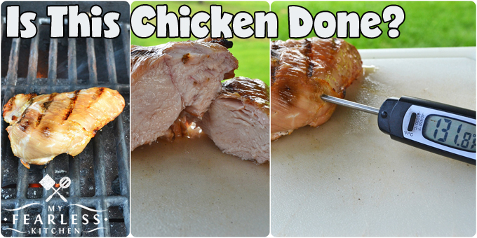 collage of undercooked chicken breasts
