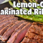 Lemon-Garlic Marinated Ribeye Steaks