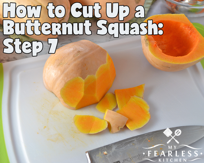 How to Cut Up a Butternut Squash from My Fearless Kitchen. Have you seen recipes for butternut squash, but you aren't sure how to cut one up so you can cook it? Here are the tips you need to cut up a butternut squash.