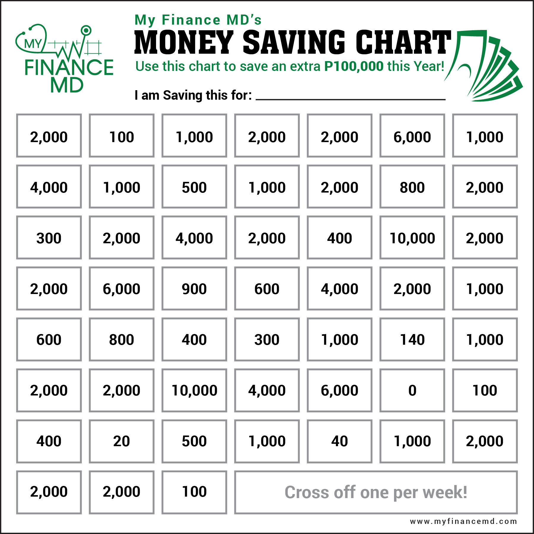 52 Week Money Saving Challenge For Those With Inconsistent