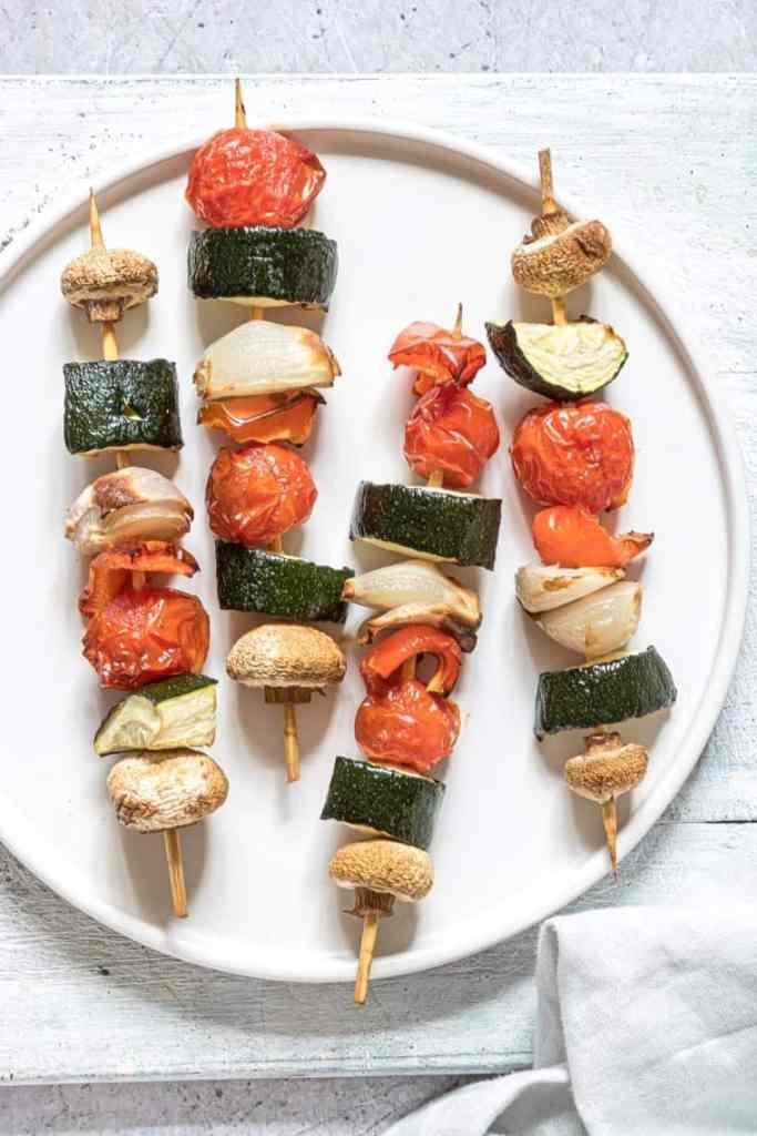 MyFinancialHill Air Fryer Vegetable Kebabs Healthy Low Carb Dinner