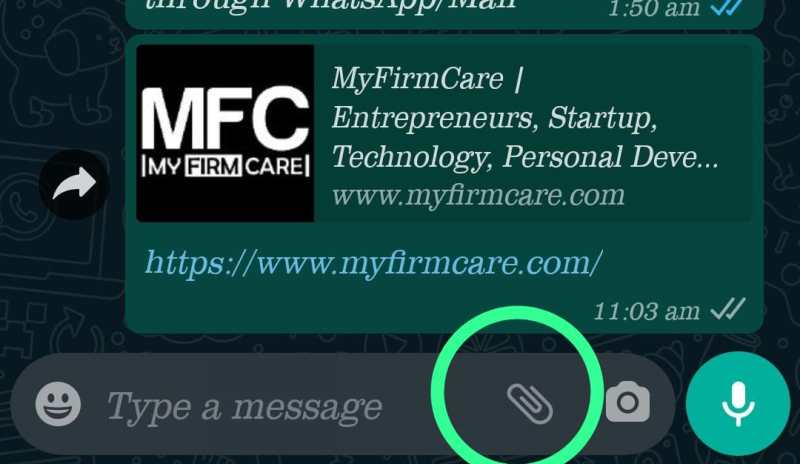 Send Photos in Whatsapp Without Losing Quality step 2
