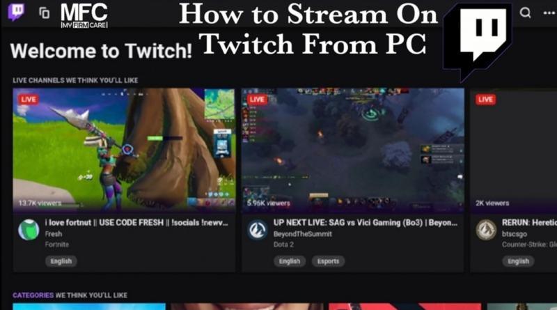 How to stream on twitch