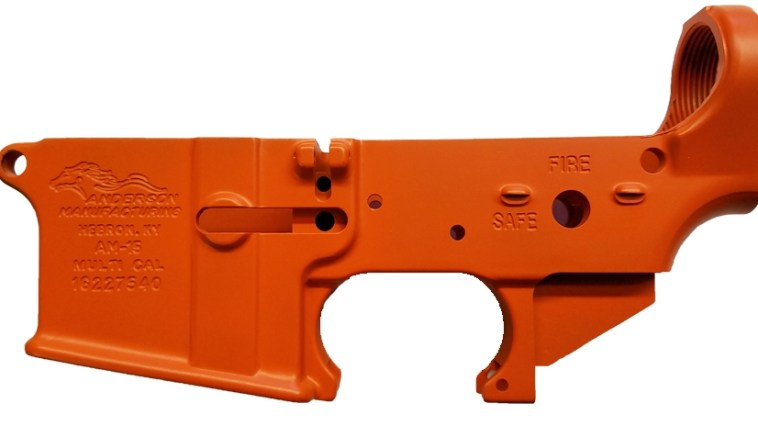 An example of a orange cerakote lower from Republic Firearms.
