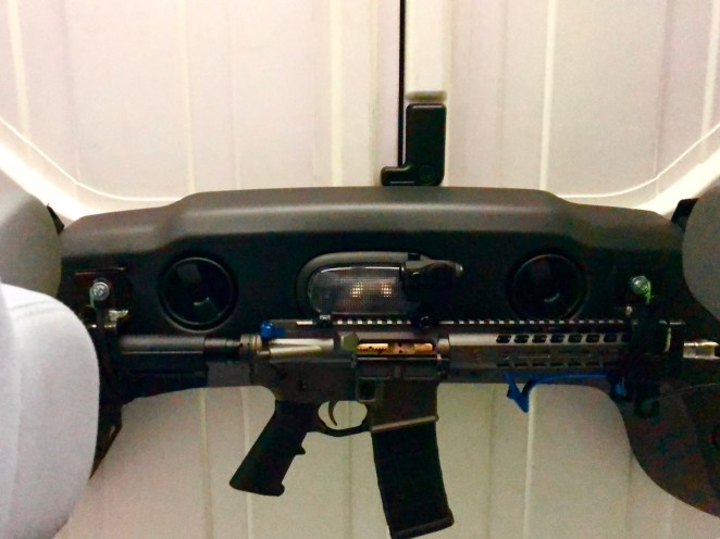 Jeep AR15 Mount below