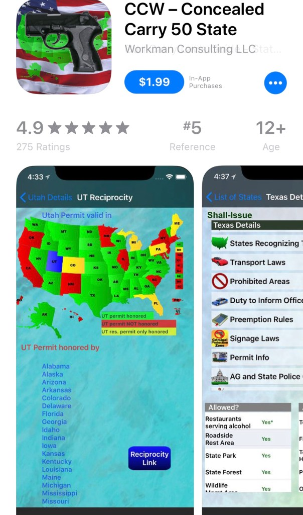 ccw app screen shot