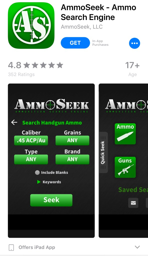 AmmoSeek Screen shot