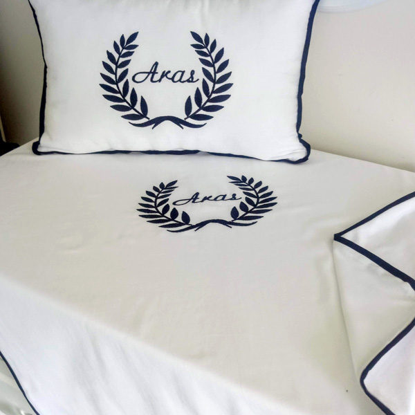 personalized ornament pipe pillow and blanket set