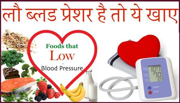 Low Blood Pressure Diet Chart
