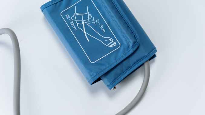 blue and white zip pouch