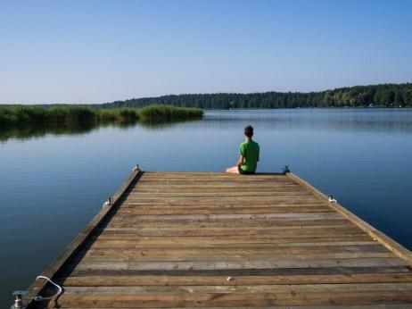Contemplation over Lake Niegocin.