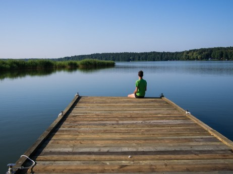 Contemplation over Lake Niegocin.