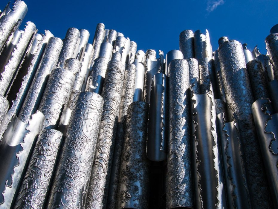 The Sibelius monument, Helsinki.