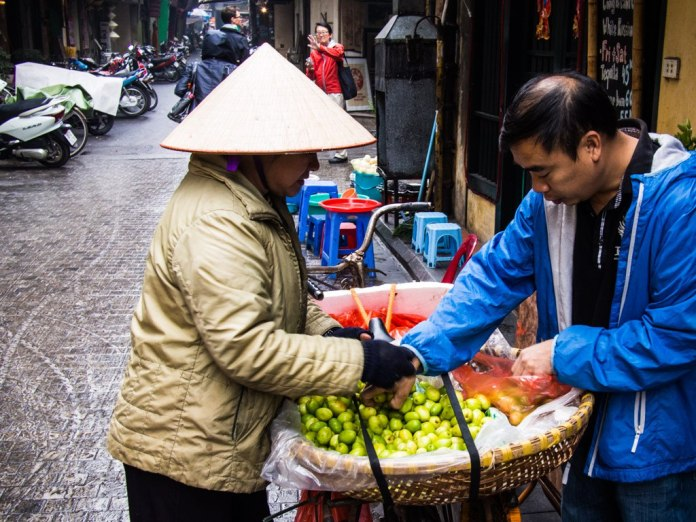 Fruit vendor, Hanoi.