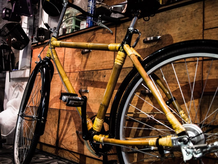 Bamboo bike at The Hanoi Bike Collective.