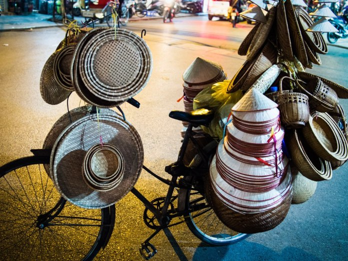 Bike baskets, Hanoi.