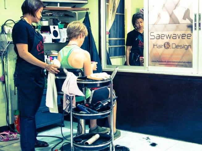 Haircut time, Chiang Mai.