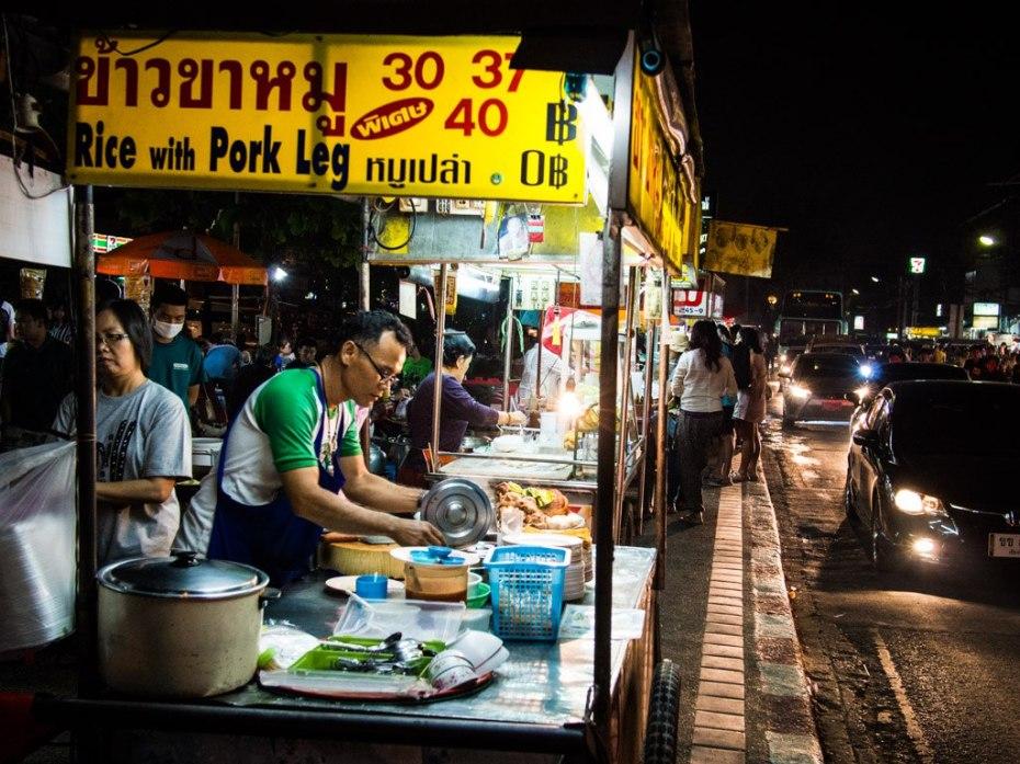 Night market food street, Chiang Mai.