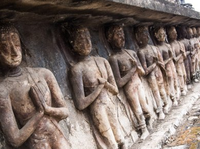 Statues in relief, Sukhothai Historical Park.