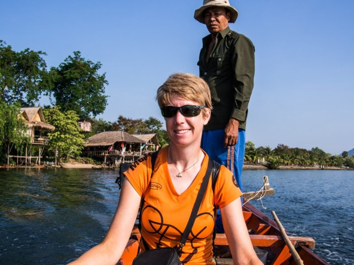 Jane and the captain, Kampot.