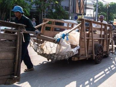 Trail of cart-pullers, Aranyaprathet.