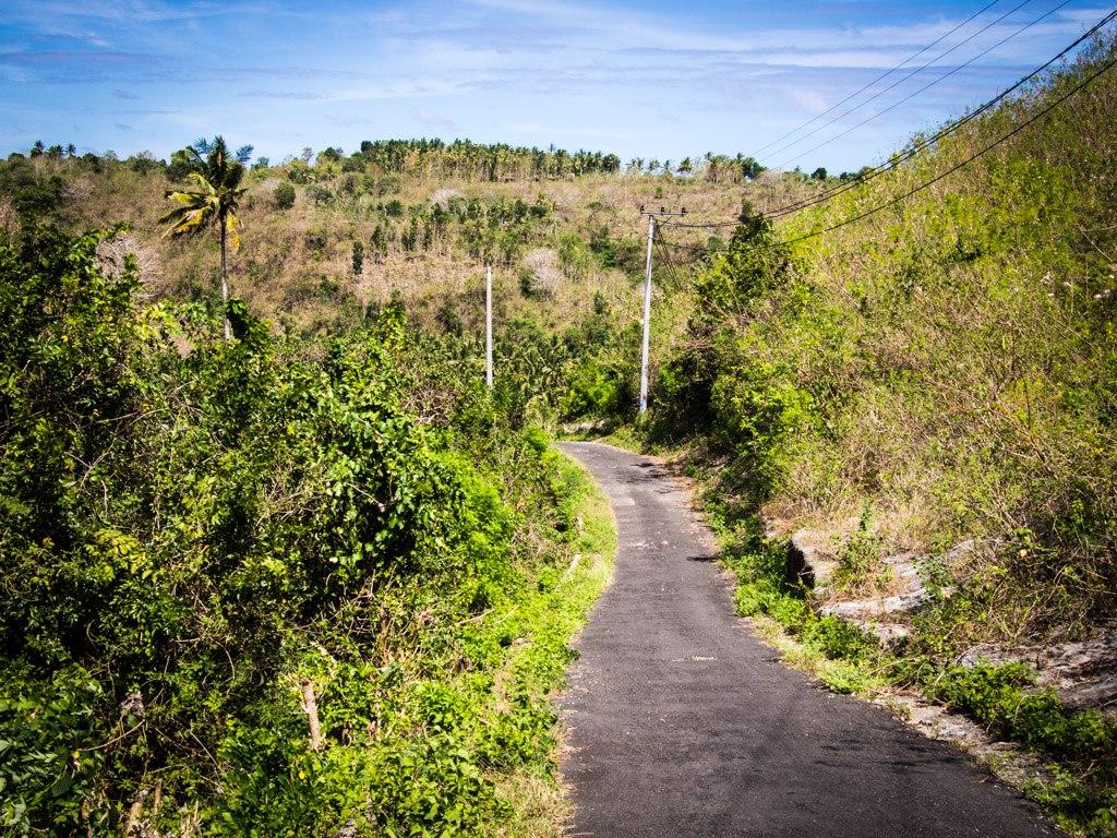 The roads all look like this on Nusa Penida.