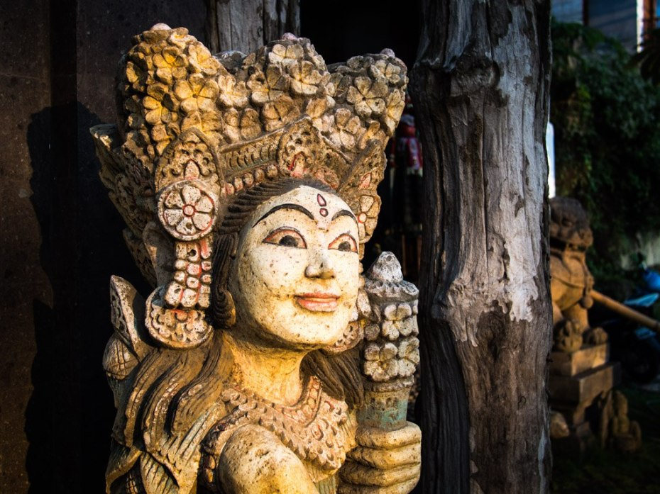 Carving in Ubud, Bali.