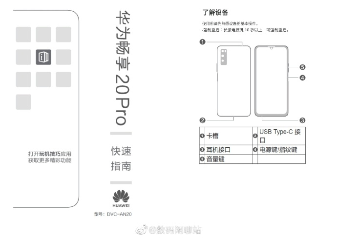 Huawei Enjoy20 Pro Full Specifications Leaked: Dimensity